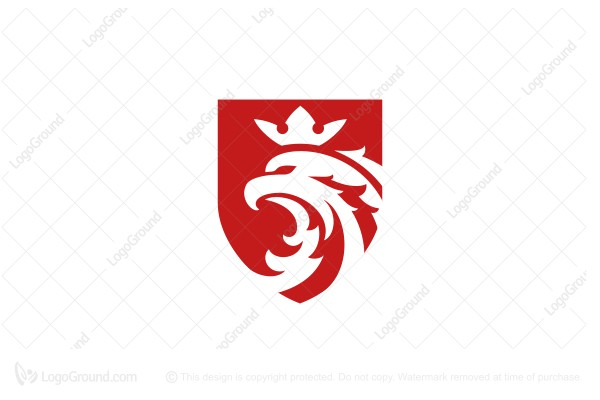 Exclusive Logo 165135, Red Eagle Crown Logo.