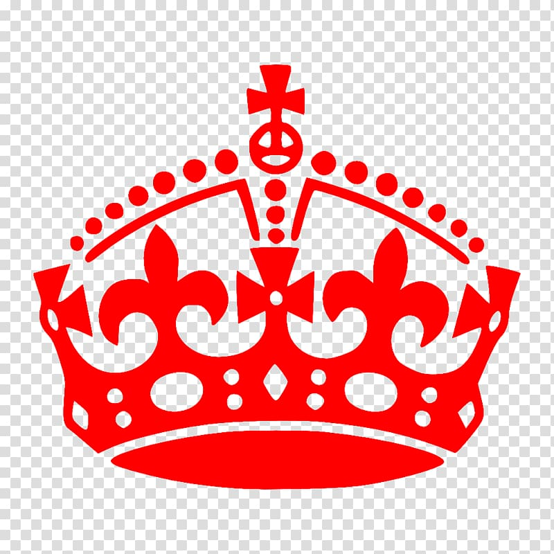 Keep Calm and Carry On Logo Crown , red.