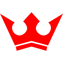 Red crown 5 icon.