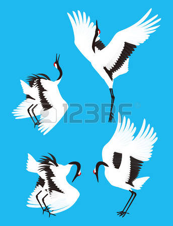 95 Red Crowned Crane Stock Illustrations, Cliparts And Royalty.