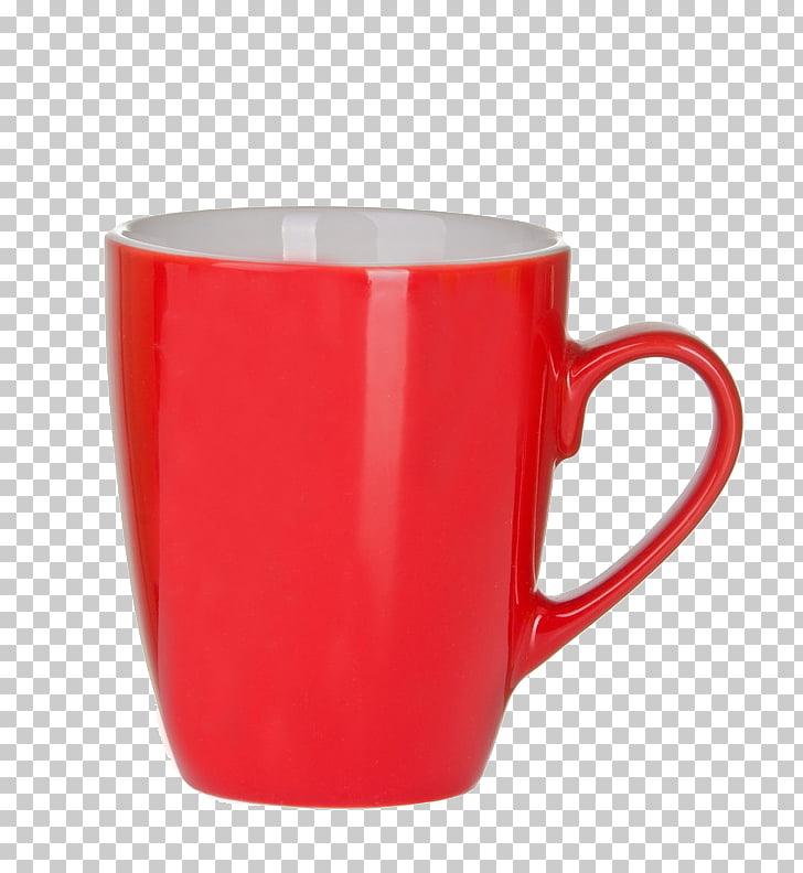 Coffee cup Cappuccino Coffee cup, Red cups PNG clipart.