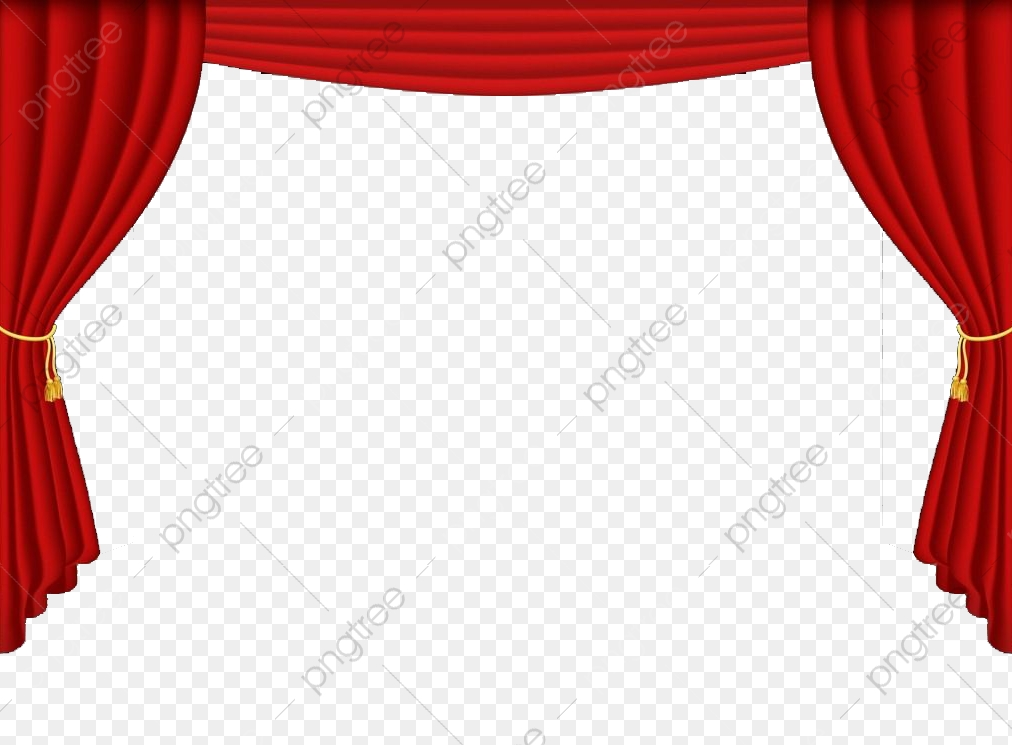 A Red Curtain Bound Up, Red Curtain, Gules, The Curtain PNG.
