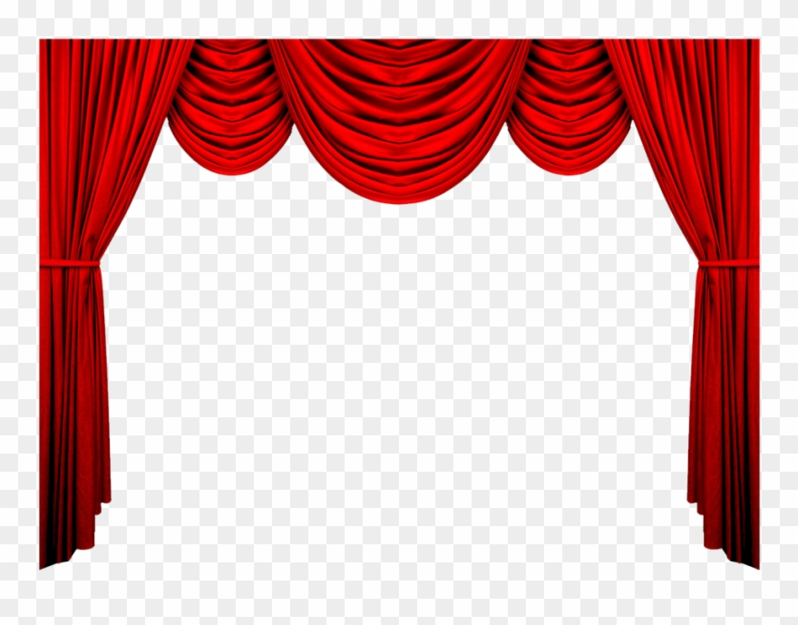 Red Curtain Background Png Clipart (#757870).