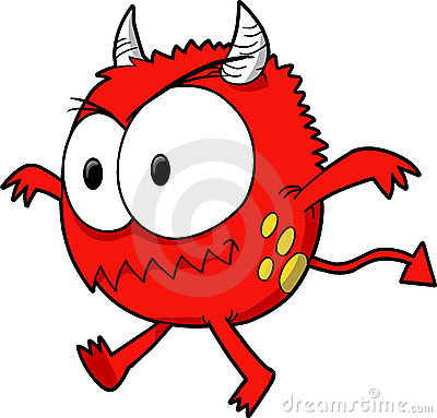 Red Monster Clipart.