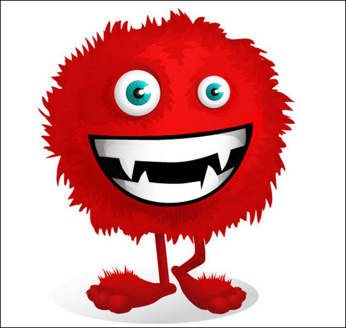 Cute Red Monster Clipart.