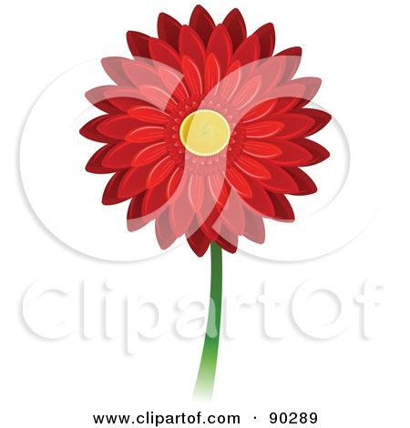 Red Daisy Clipart#2014369.