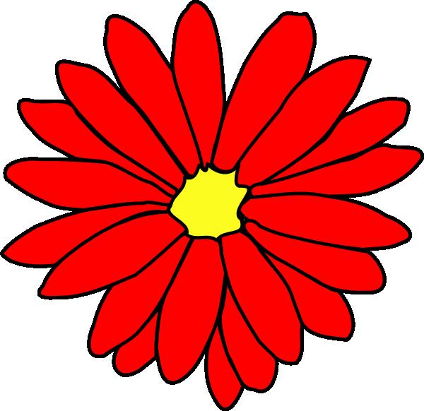 Red Daisy Flower 2 Clip Art at Clker.com.