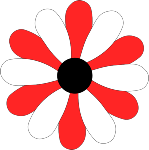 Red And White Gerber Daisy Clip Art at Clker.com.