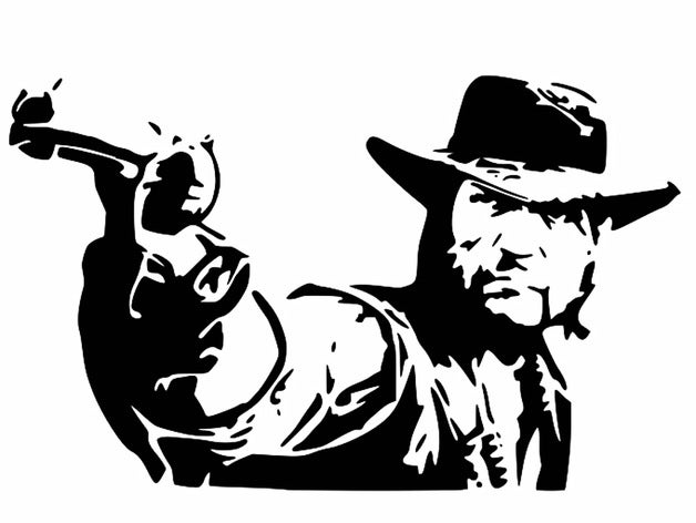 Red Dead Redemption stencil by Longquang.