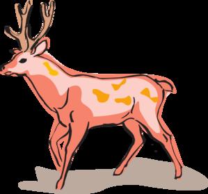 Red deer clipart.