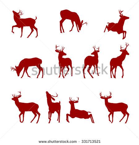 Bucks Deer Silhouettes Stock Photos, Royalty.