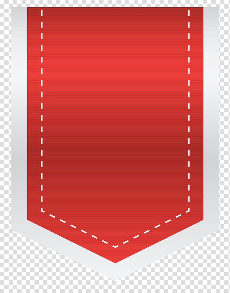 Red Design Heart Pattern, Red Empty Sale Label transparent.