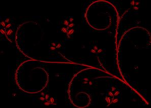 Red Backwards Floral Design Clip Art at Clker.com.
