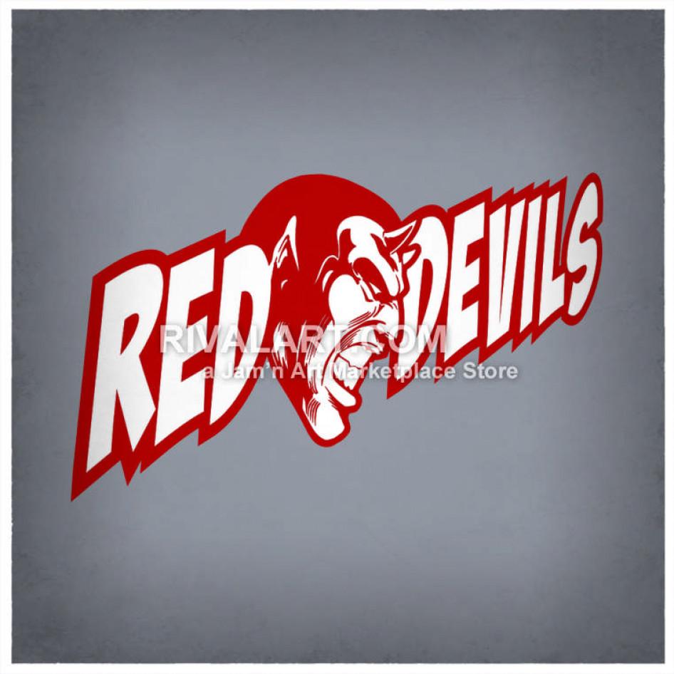 Red Devils Logo Design.