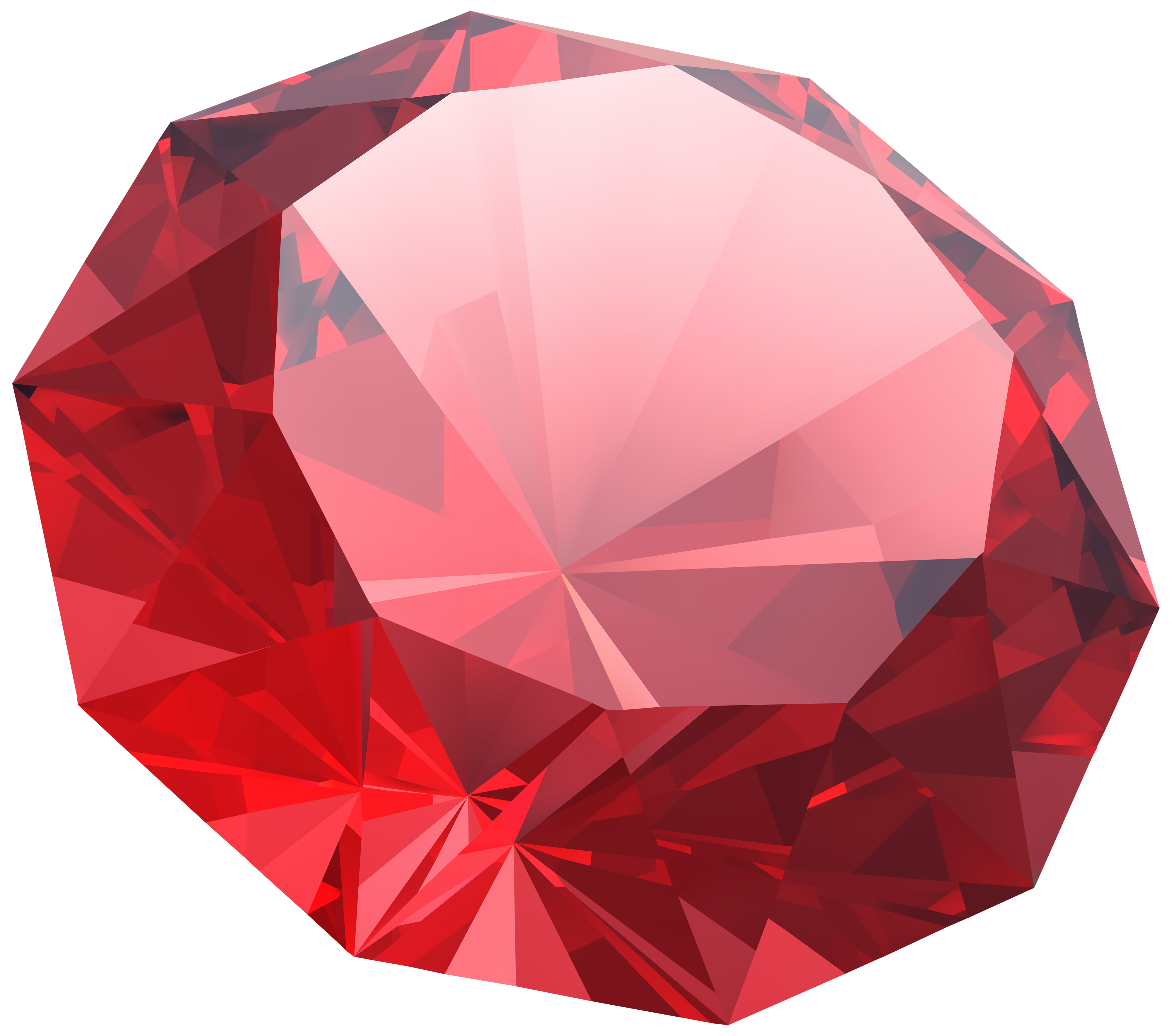 Red Diamond PNG Clipart Image.