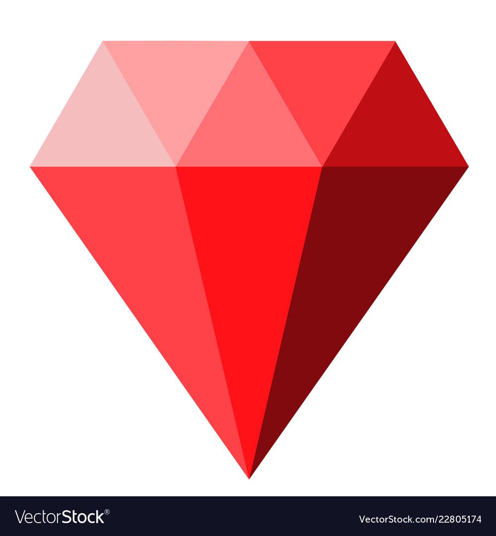 Red diamond icon on white background diamond.
