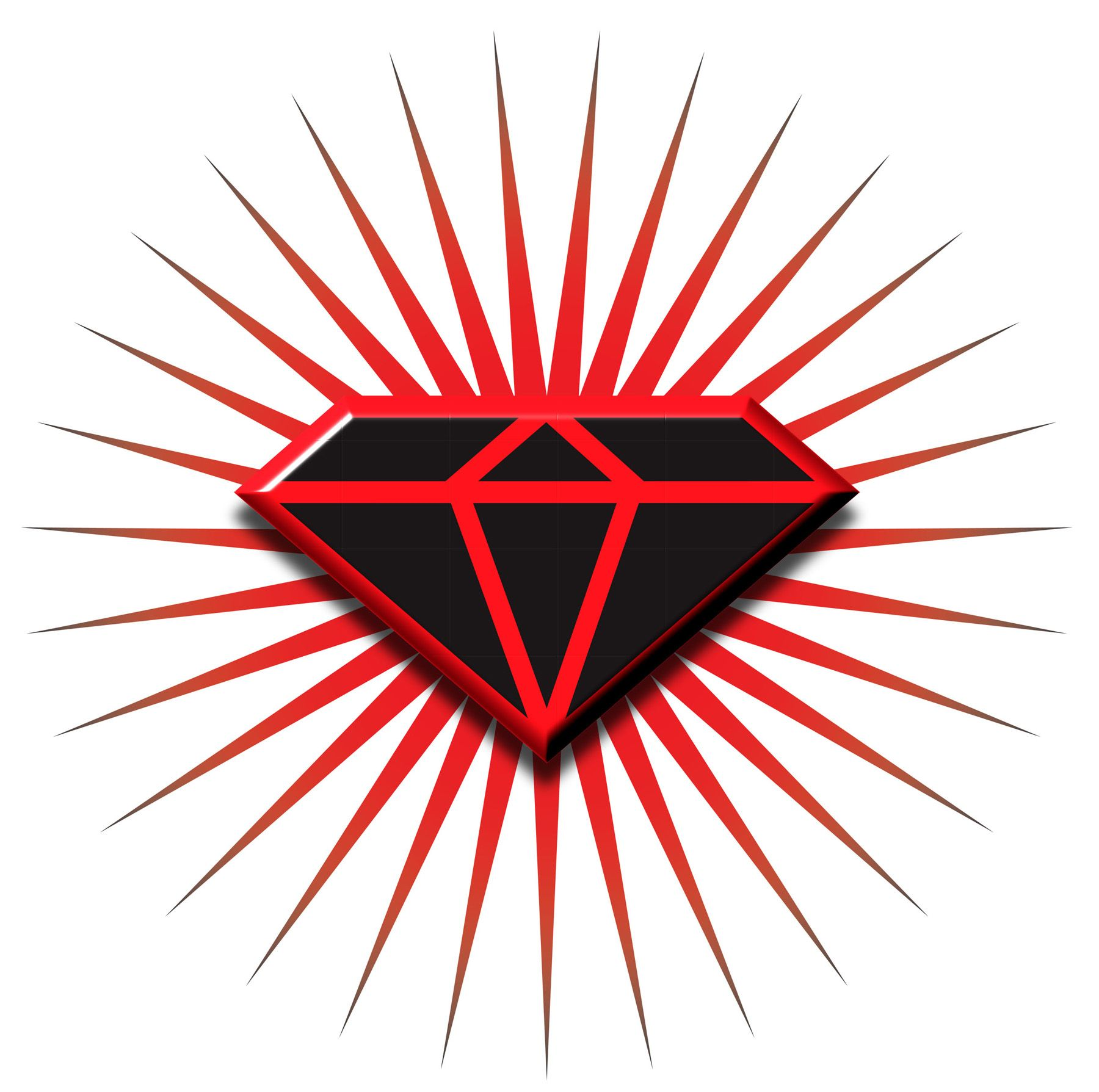 Black and Red Diamond Logo.