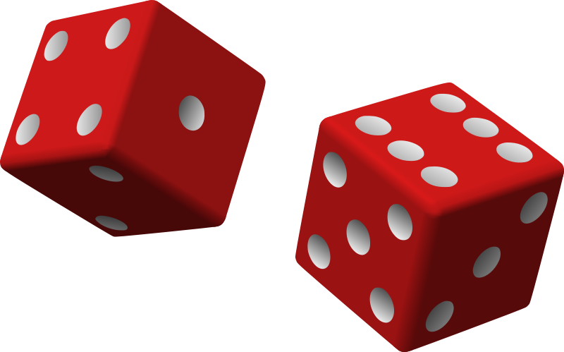 Free Clipart: Two red dice.