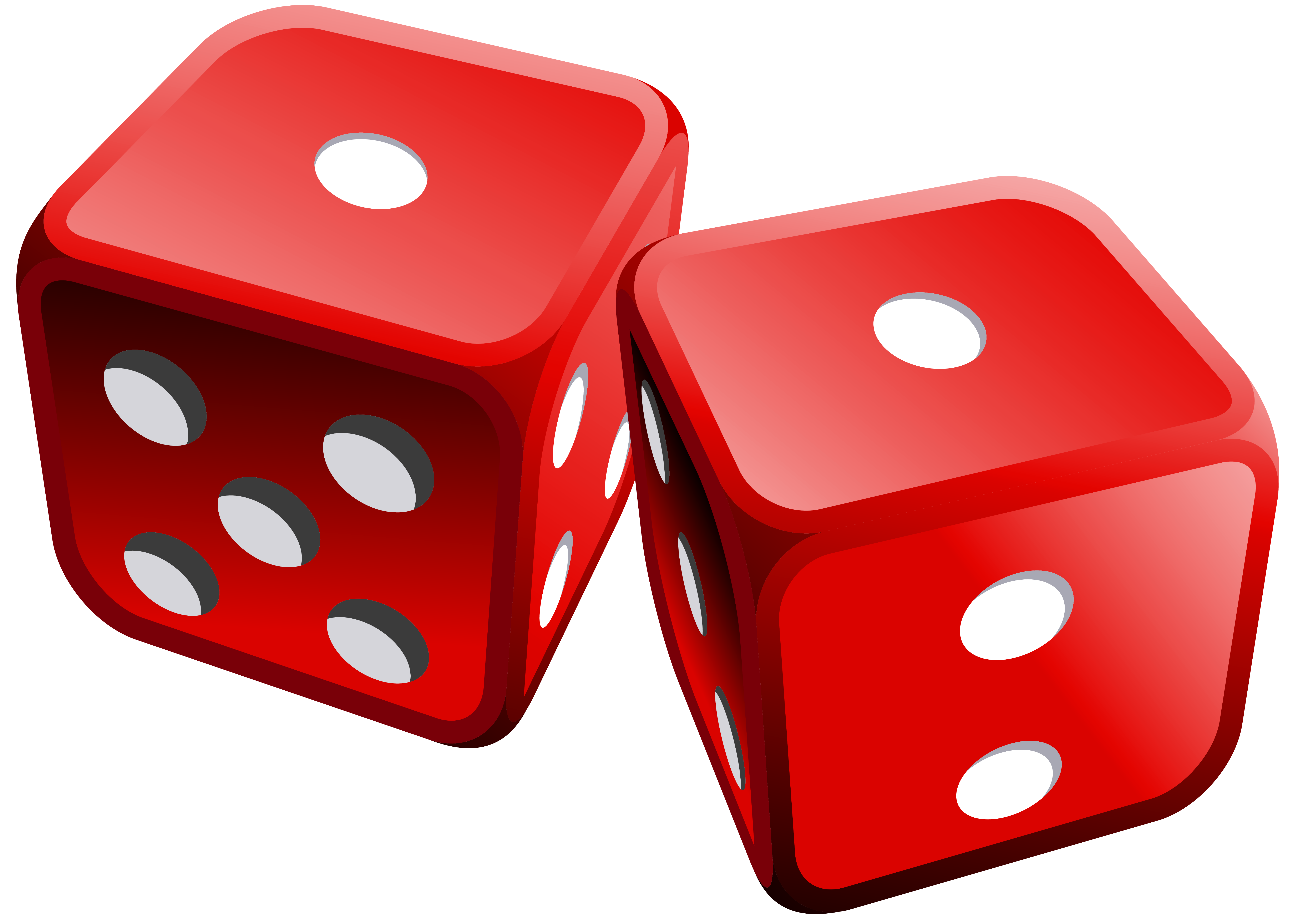 Red Dices PNG Clipart.