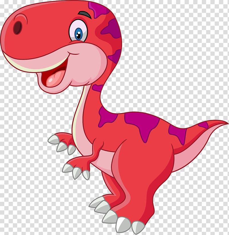 Red dinosaur illustratio, Tyrannosaurus Dinosaur Drawing.
