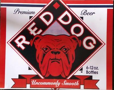 RED DOG BEER Label Poster 16x20.