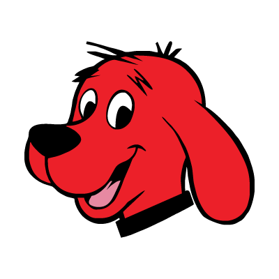 Clifford The Red Dog logo vector free.