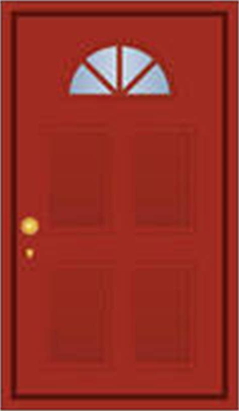 House Clip Art Red Door.