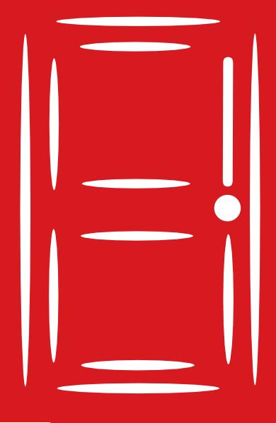 Red door clipart.