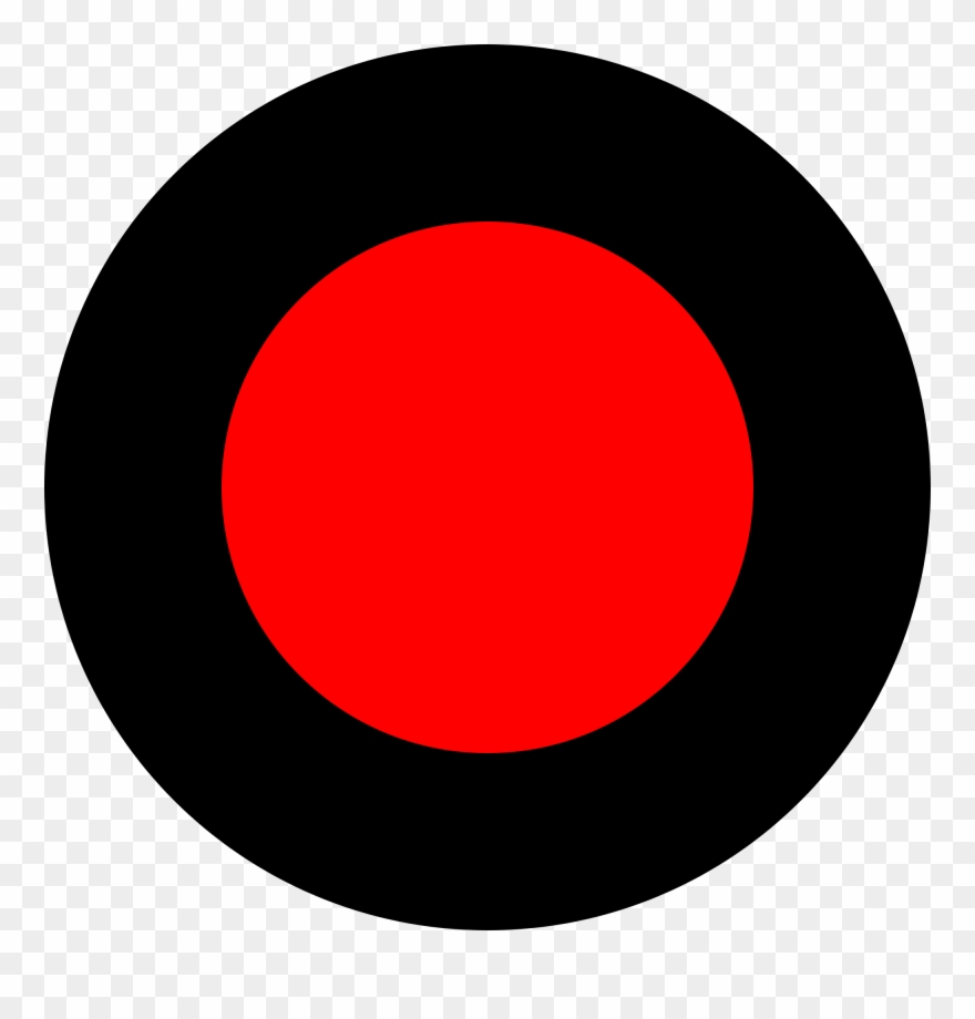 Red Recording Dot Png Black And White Download.