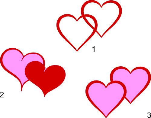 Red Double Heart Clip Art.
