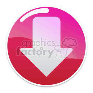 red download button with arrow clipart. Royalty.