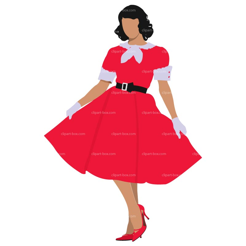 Red dress clipart.