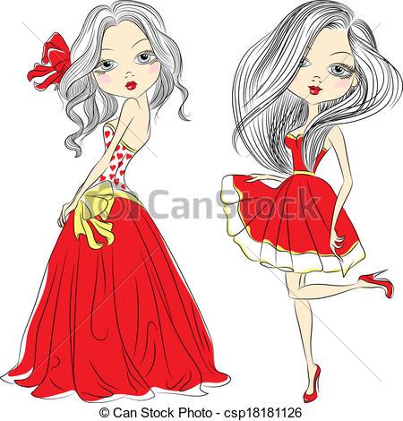 Short Dress Clipart.