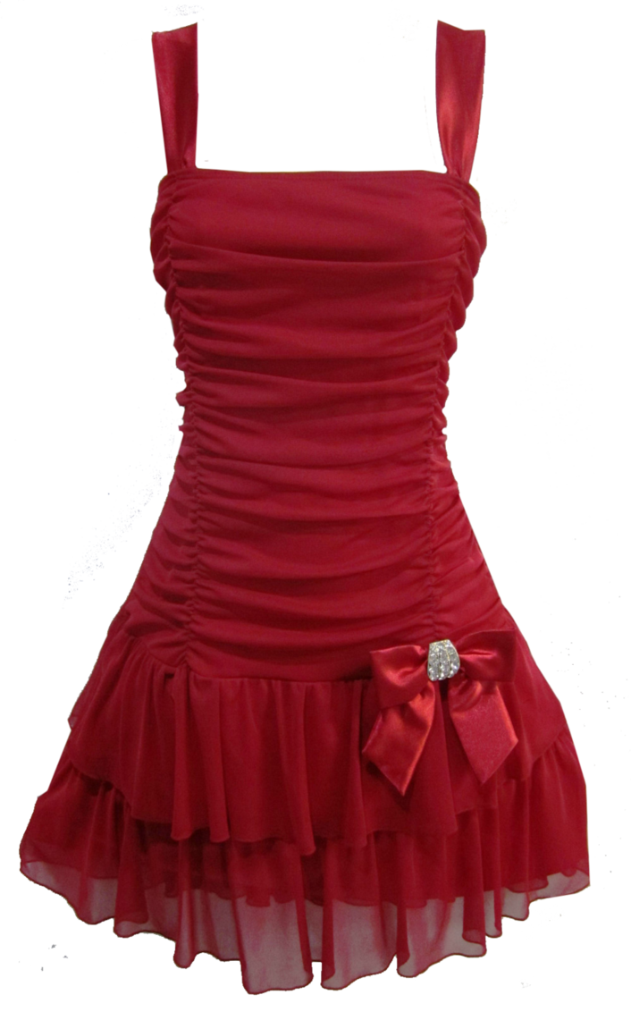 Short red dress png #26087.