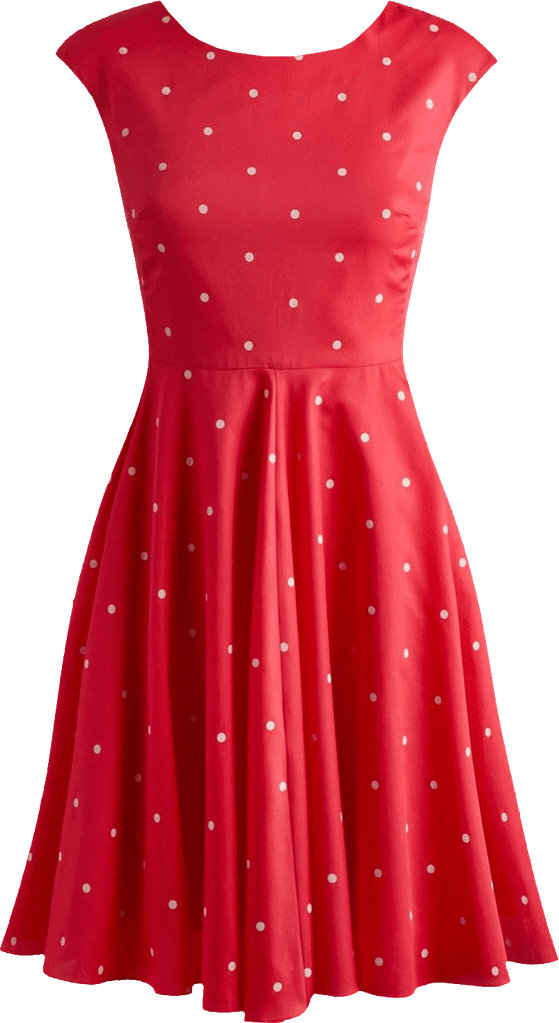 Fifties style red dress transparent image.