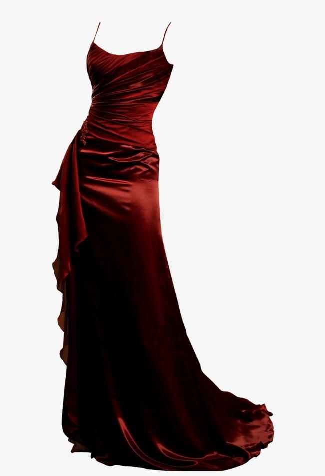 Red Dress, Women Fashion, Elegant, Dress #18034.
