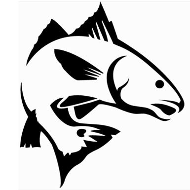 Red Fish Sticker Decal.