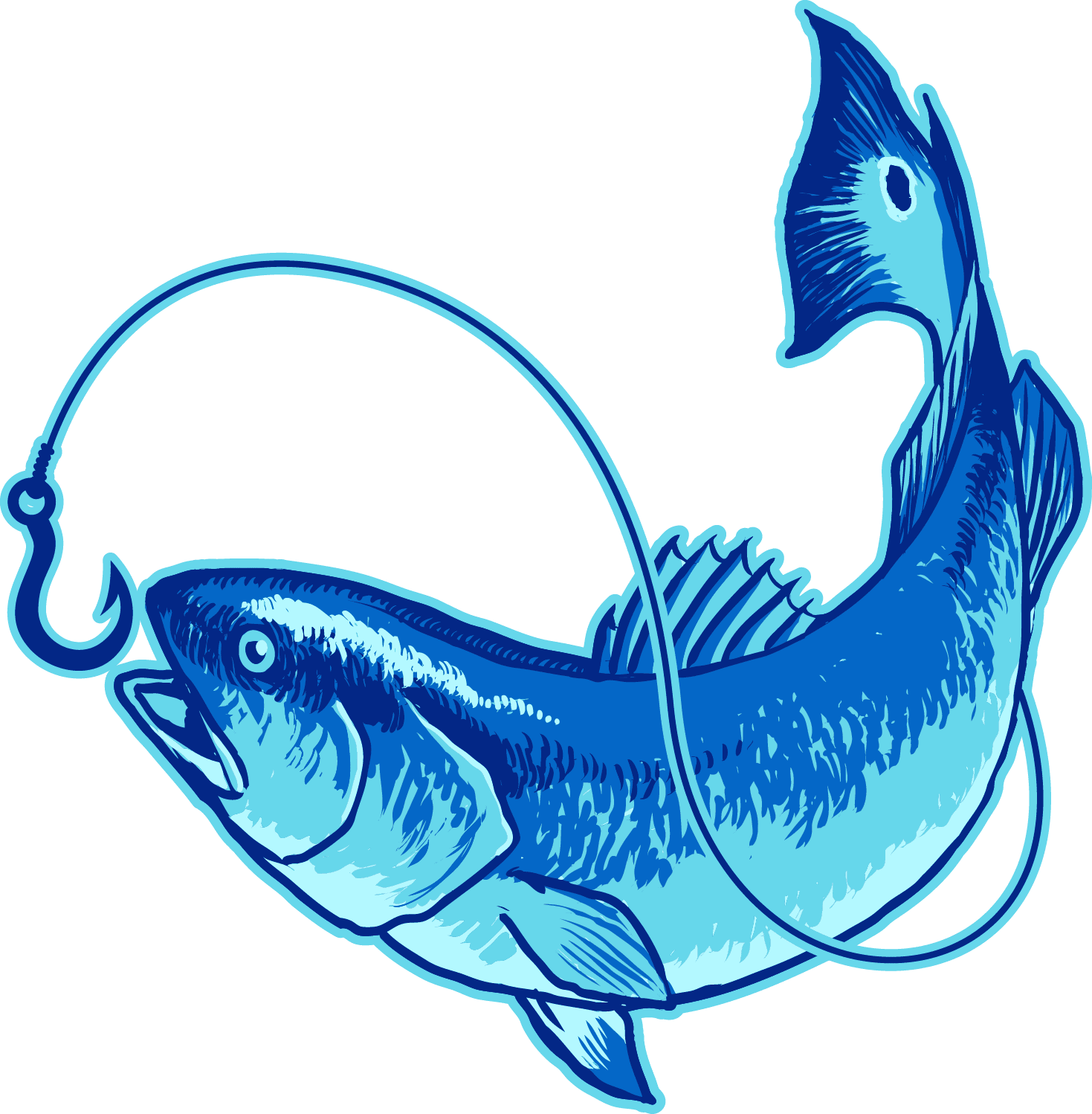 Fish Hooked On Tail Charters, LLC Red drum Clip art.