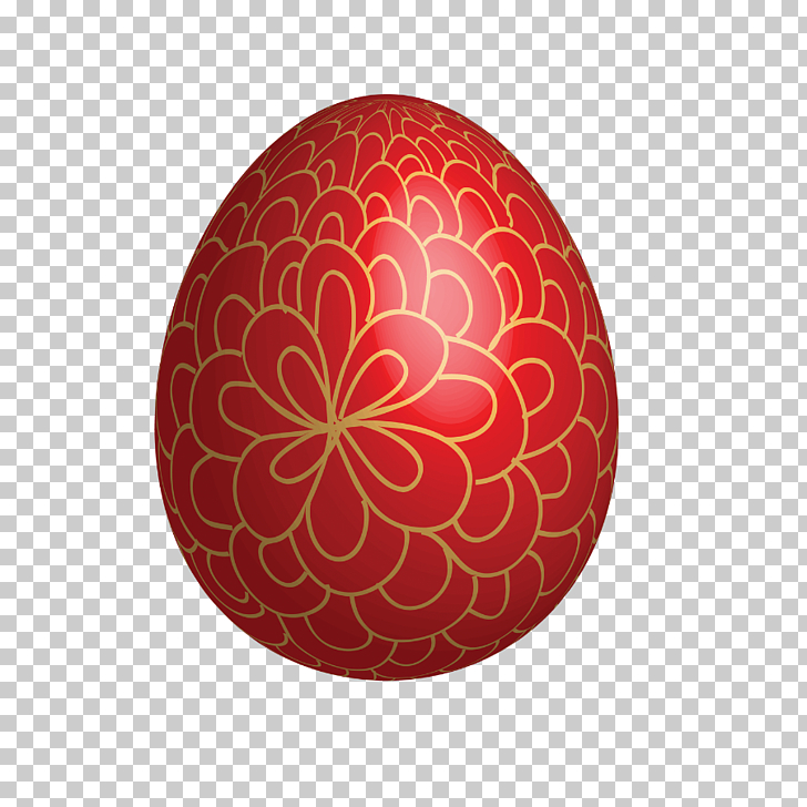 Red Easter egg Easter Bunny, Large Red Easter Egg With Gold.