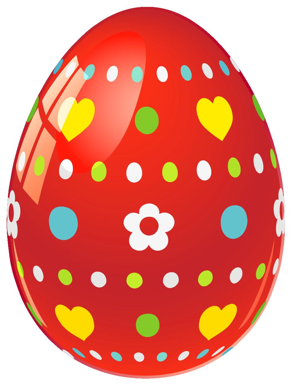 Red Easter egg Clip art.