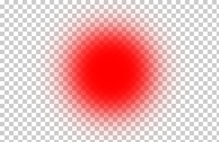 Red Circle Computer , Light Effect Transparent Background.