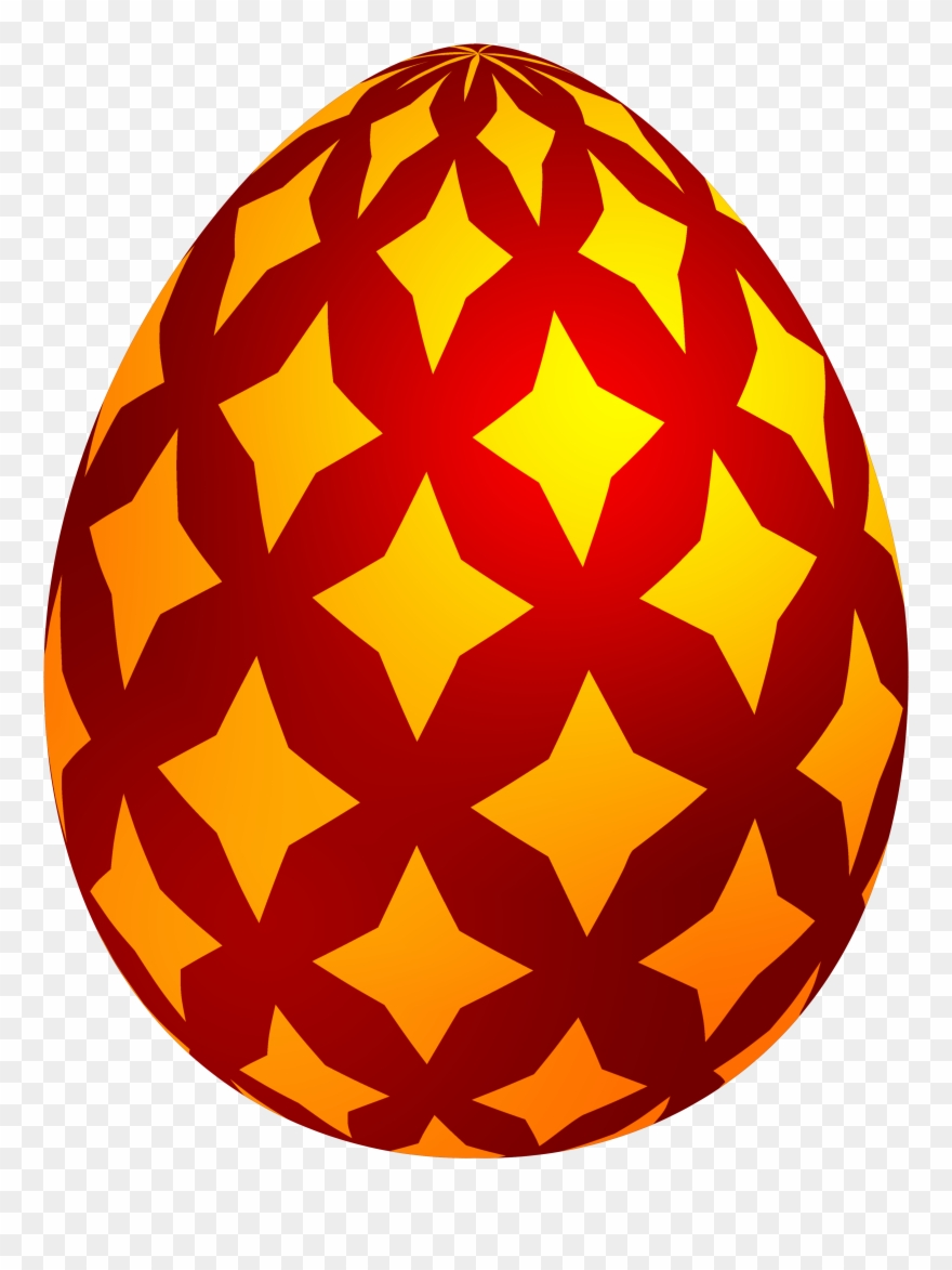 Red Easter Decorative Egg Png Clip Art.