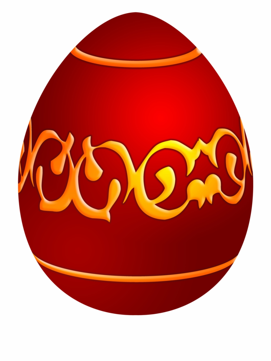 Easter Decorative Red Egg Png Clip Art Easter Egg Clipart.