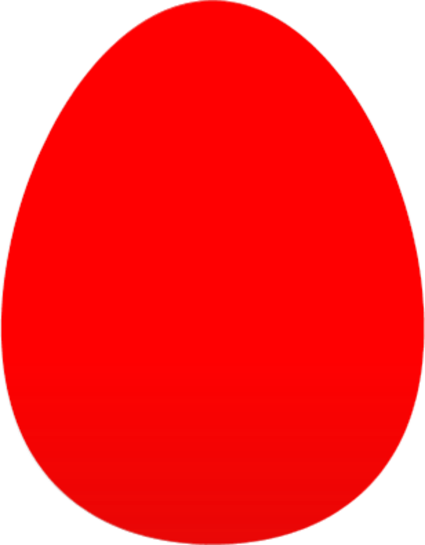 Red egg clipart.