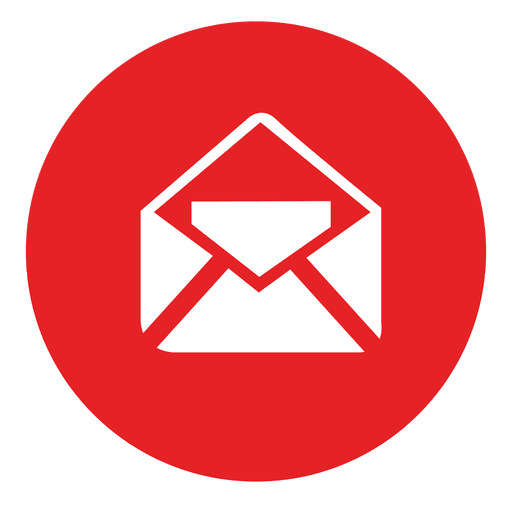 Email round icon.