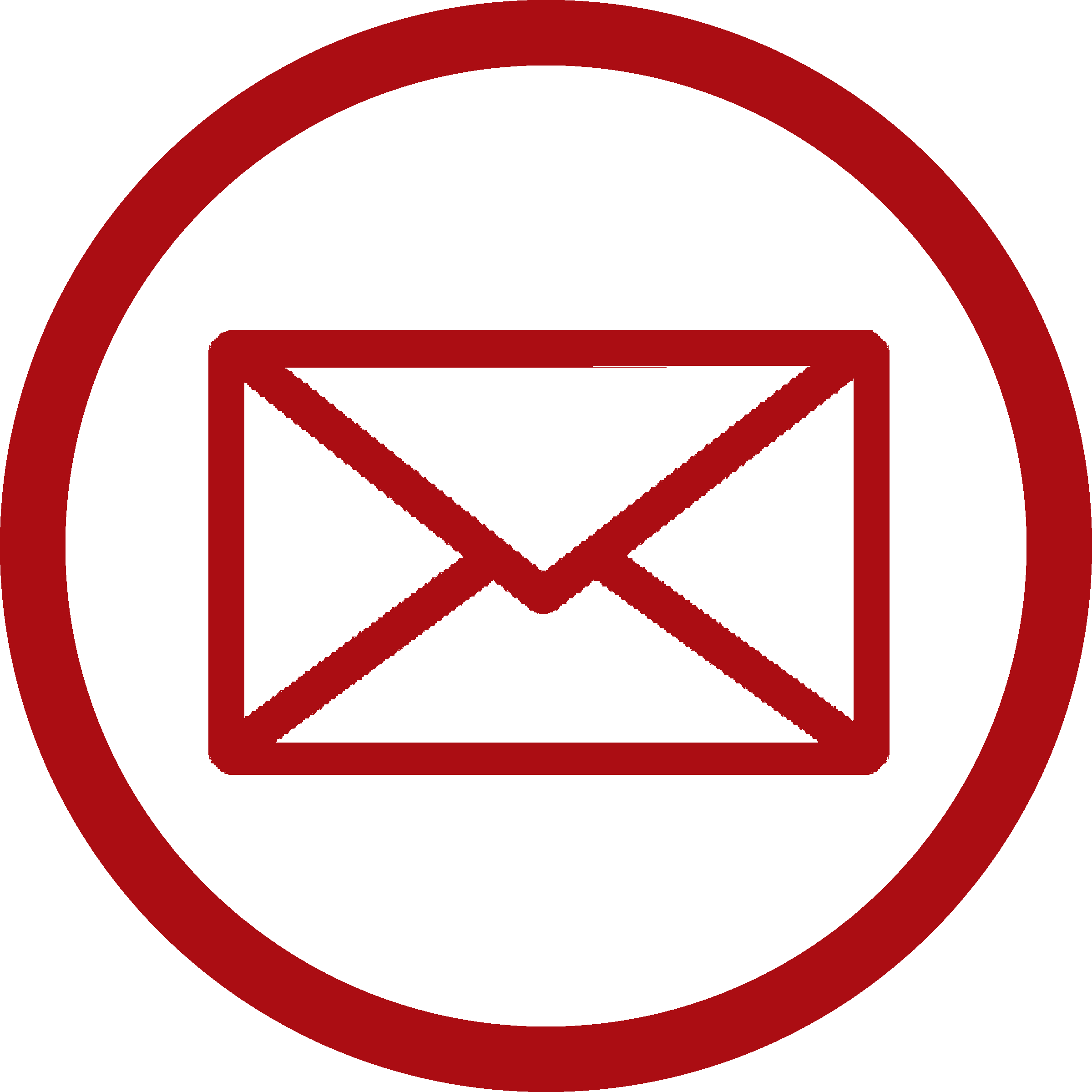 Red Email Icon Png #103106.