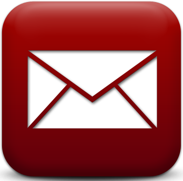 Red Email Icon Png #103125.