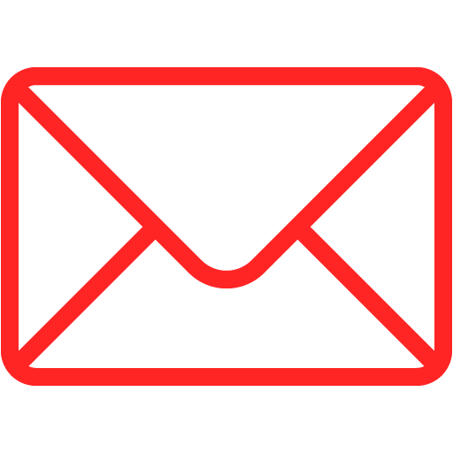 Red email 5 icon.