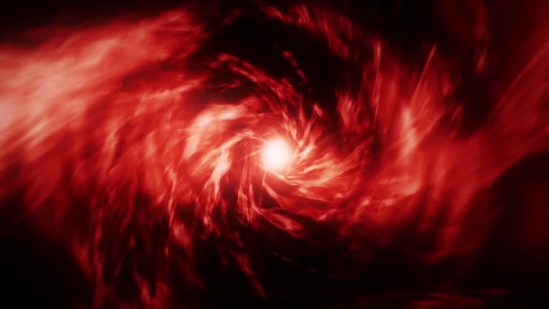 Red Energy Vortex Tunnel Loopable Motion Background Stock Video Footage.