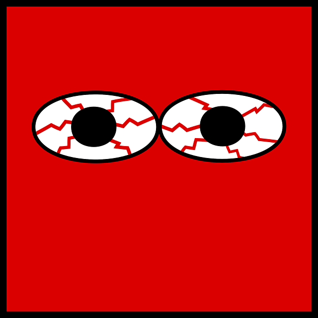 Red Itchy Eye Clipart.